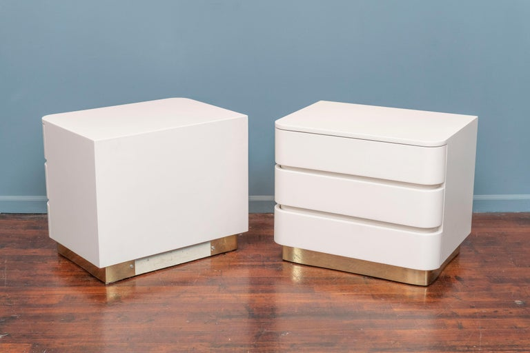 Karl Springer Style Contemporary Nightstands For Sale 2