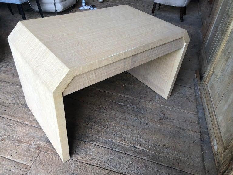 Grasscloth Karl Springer Style Desk
