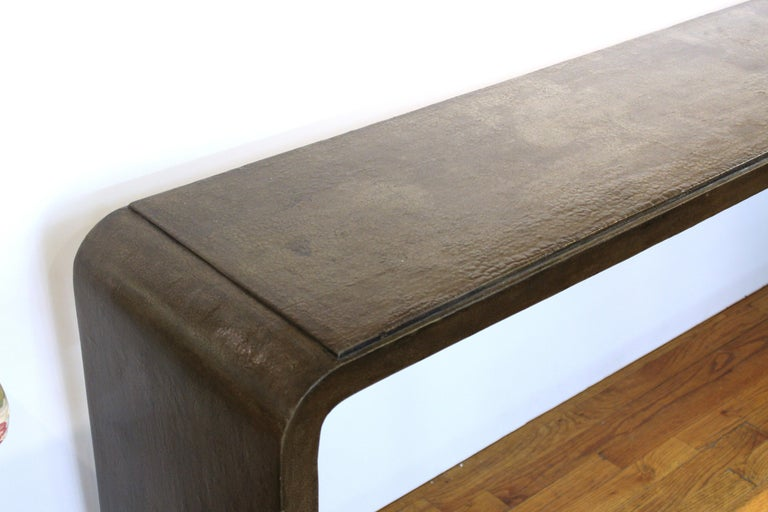 Karl Springer Style Modern Lacquered Console Table 4