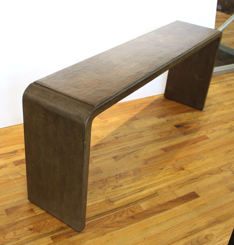 Karl Springer Style Modern Lacquered Console Table 5