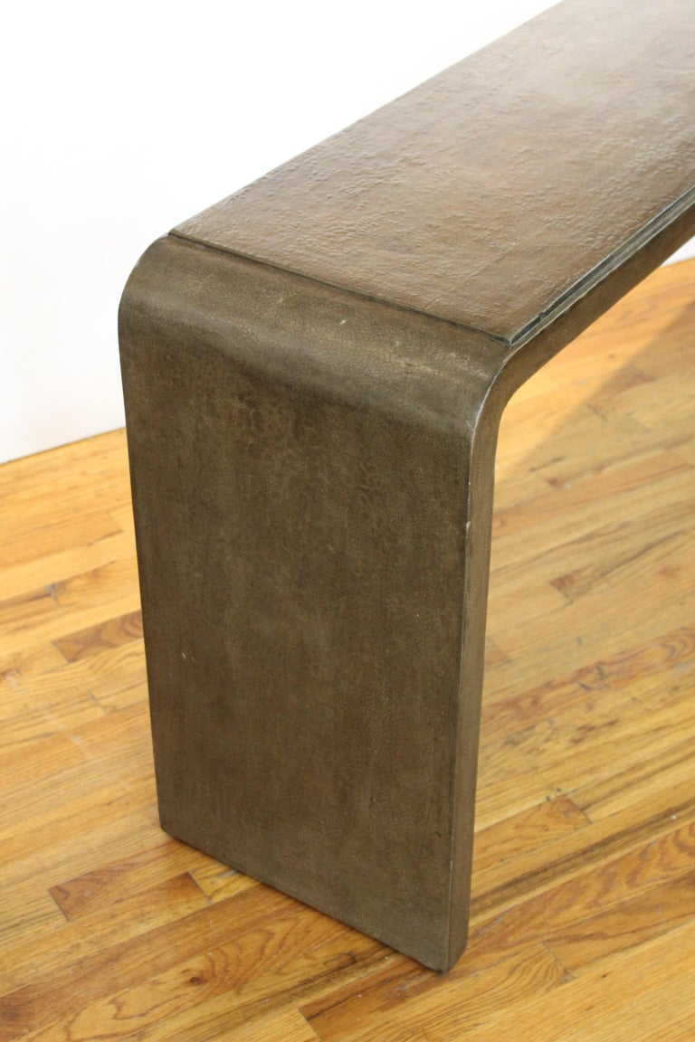 Karl Springer Style Modern Lacquered Console Table 6