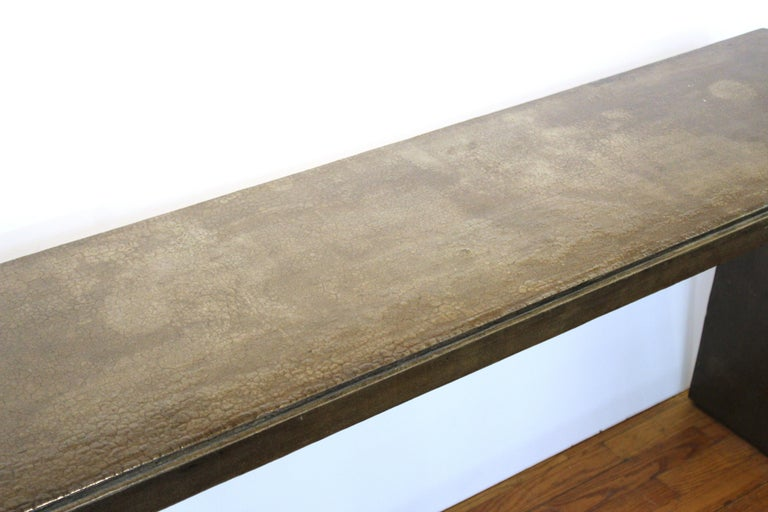 Mid-Century Modern Karl Springer Style Modern Lacquered Console Table