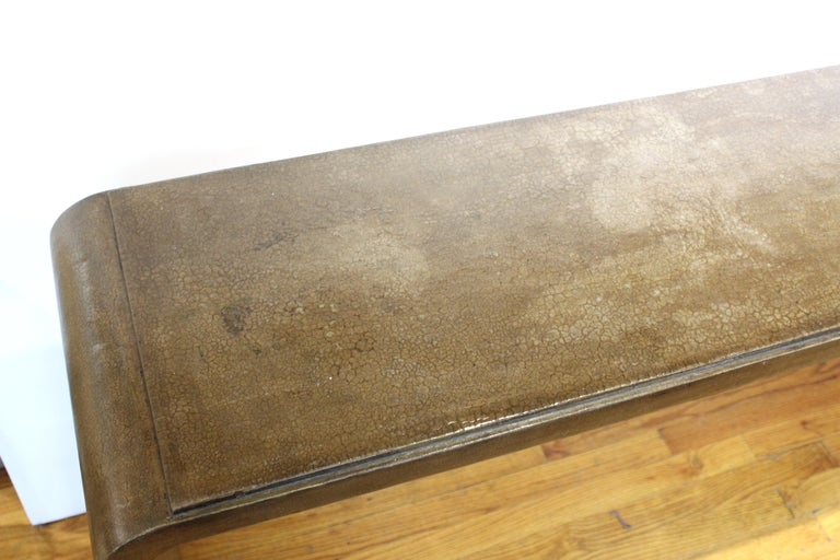 American Karl Springer Style Modern Lacquered Console Table
