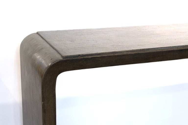 Late 20th Century Karl Springer Style Modern Lacquered Console Table