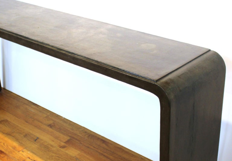 Karl Springer Style Modern Lacquered Console Table 1