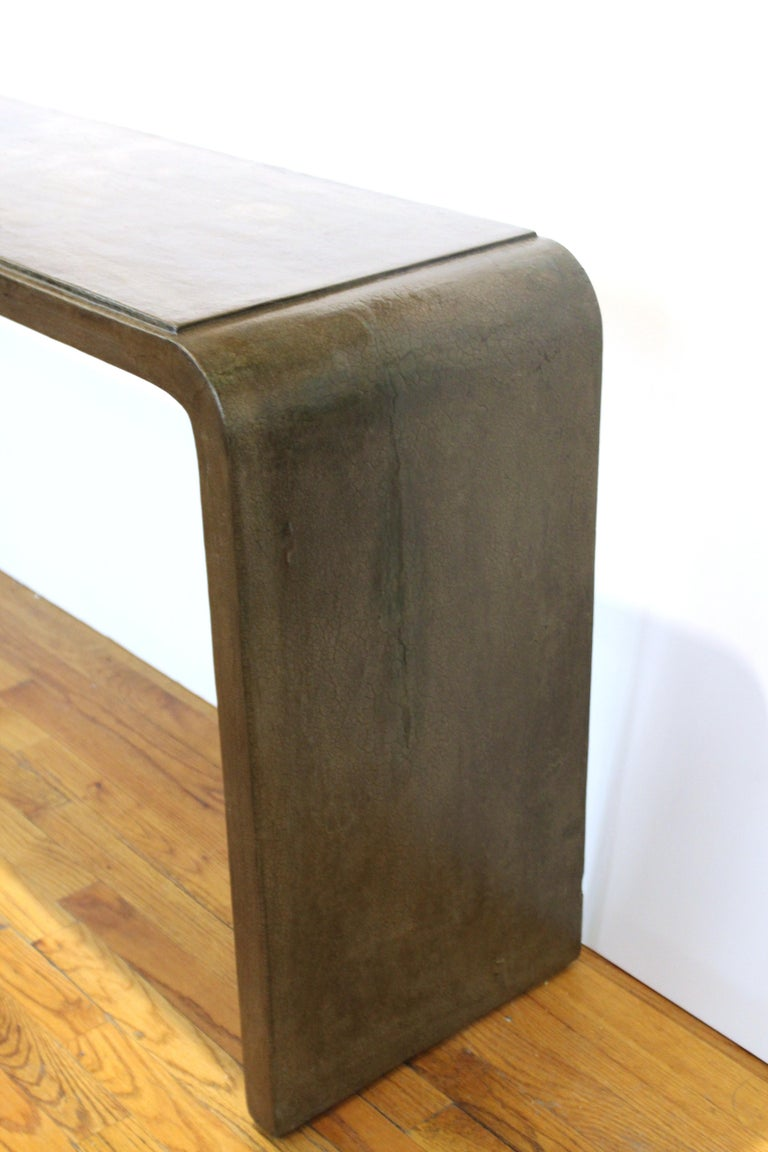 Karl Springer Style Modern Lacquered Console Table 2