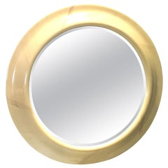 Monumental Faux Goat Skin Mirror