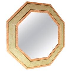 Karl Springer Style Octagonal Mirror, 1970s