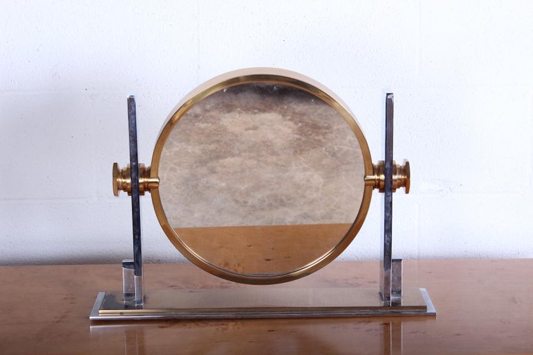 Karl Springer Table Top Mirror In Good Condition For Sale In Dallas, TX