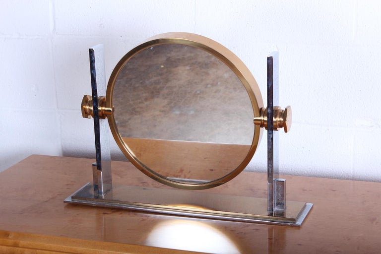Late 20th Century Karl Springer Table Top Mirror For Sale