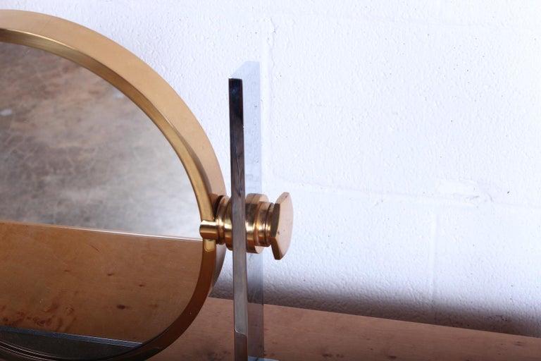 Brass Karl Springer Table Top Mirror For Sale