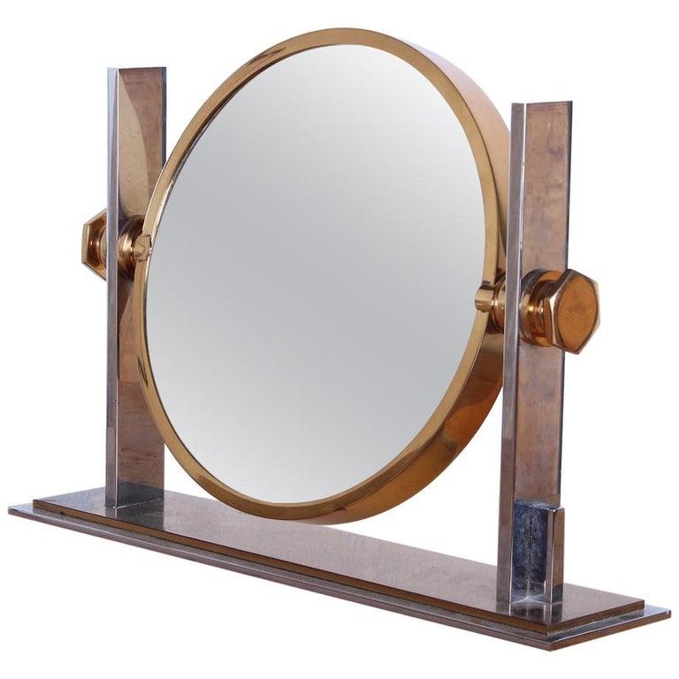 Karl Springer Table Top Mirror For Sale