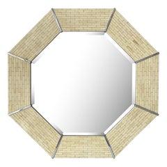Karl Springer Tessellated Bone Octagon Wall Mirror