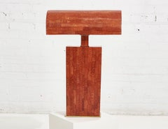 Karl Springer Tessellated Red Coral Stone Table Lamp