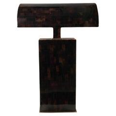 """Karl Springer """"Tortoise Shell"""" Sculptural Desk/Table Lamp"""