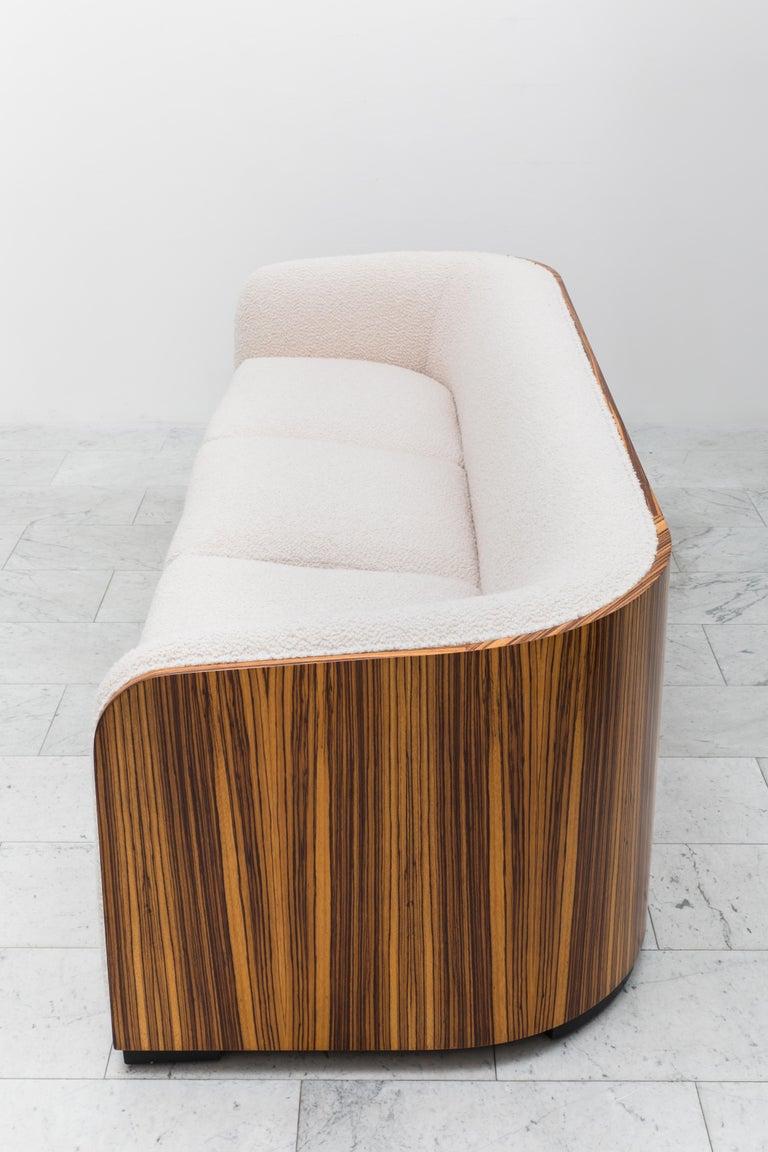 American Karl Springer, Zebrano Pullman Sofa, USA, c. 1980 For Sale