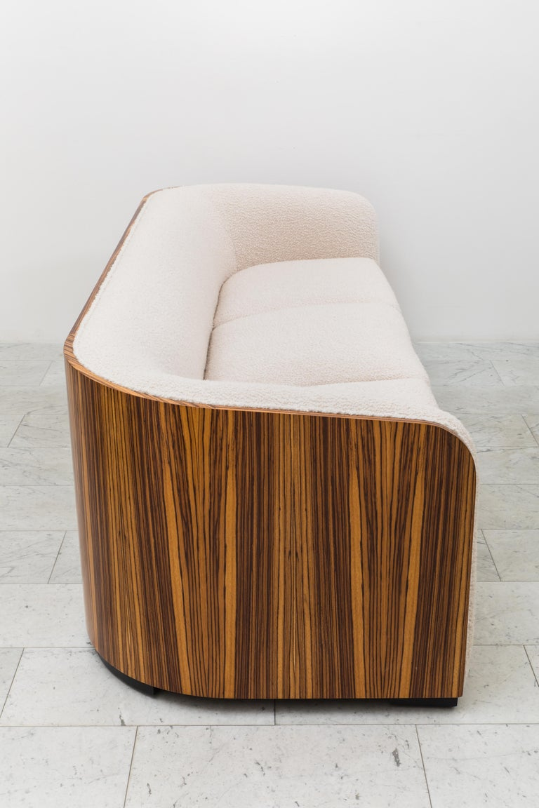 Karl Springer, Zebrano Pullman Sofa, USA, c. 1980 In Excellent Condition For Sale In New York, NY