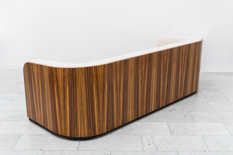 20th Century Karl Springer, Zebrano Pullman Sofa, USA, c. 1980 For Sale