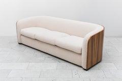 Karl Springer, Zebrano Pullman Sofa, USA, c. 1980