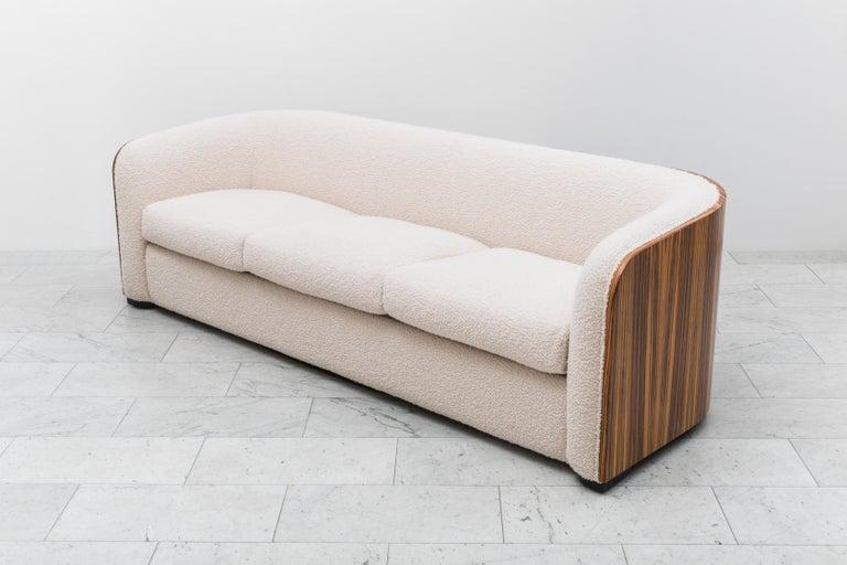 Karl Springer, Zebrano Pullman Sofa, USA, c. 1980 For Sale