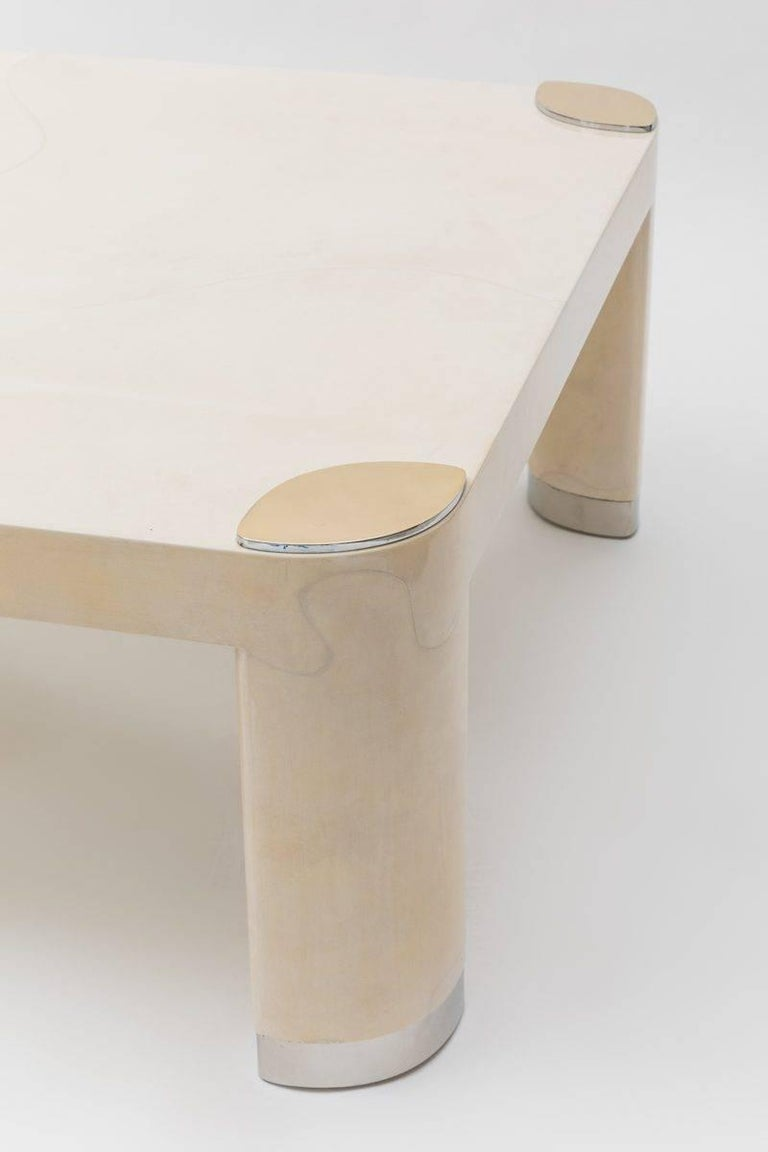 Karl Springer, Pair of Goatskin Occasional Tables, USA, c. 1980s In Excellent Condition For Sale In New York, NY