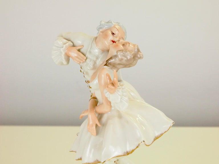 Karl Tutter for Hutschenreuther Selb Kunstabteiling Romantic Figurine For Sale 4