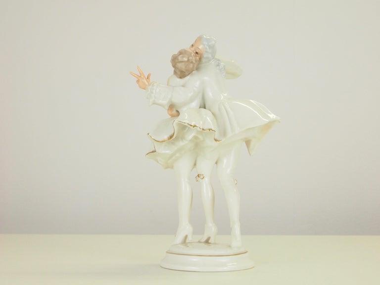 Glazed Karl Tutter for Hutschenreuther Selb Kunstabteiling Romantic Figurine For Sale