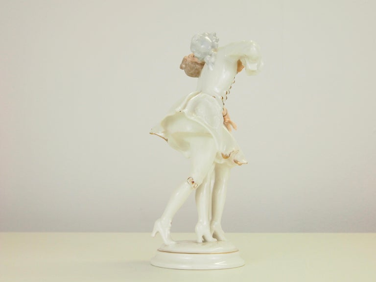 20th Century Karl Tutter for Hutschenreuther Selb Kunstabteiling Romantic Figurine For Sale