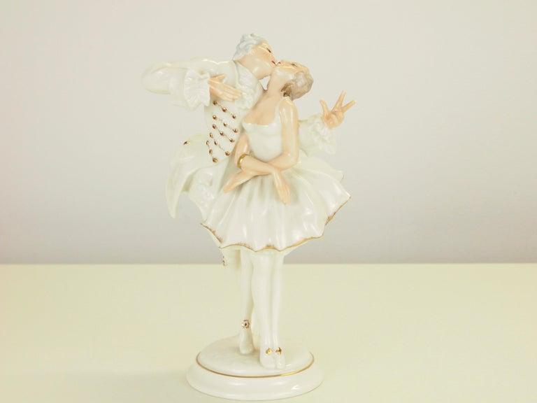 Karl Tutter for Hutschenreuther Selb Kunstabteiling Romantic Figurine For Sale 1