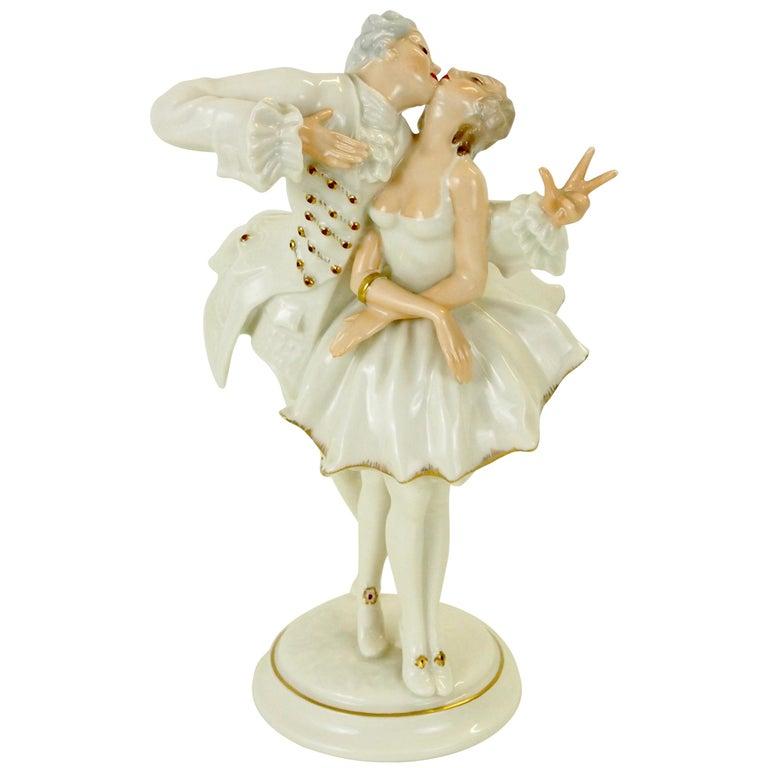 Karl Tutter for Hutschenreuther Selb Kunstabteiling Romantic Figurine For Sale