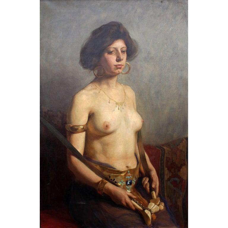 Karl Viktor Mayr (Austrian, 1882-1974) a very fine Austrian oil on canvas