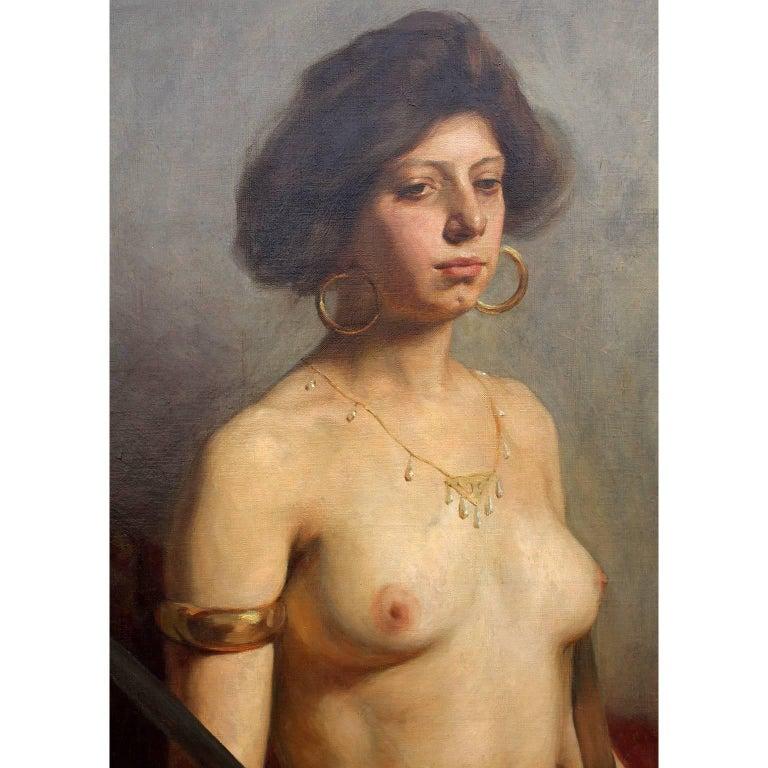 Folk Art Karl Viktor Mayr, Austrian Oil on Canvas