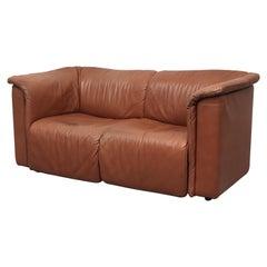 Karl Wittman Cognac Leather 'Hochbarett' Love Seat