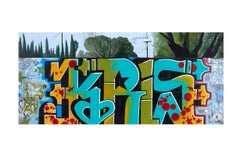 Kris - Original Urban Painting-Karlos Marquez and Kris Cunz-Graffiti Inspired