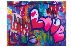 Big Love - Framed Limited Edition Print - Contemporary - Graffiti Inspired