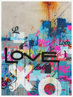 Concrete Love - Framed Limited Edition Print - Contemporary - Graffiti Inspired