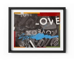 Get Love - Framed Limited Edition Print - Contemporary - Graffiti Inspired