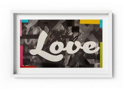 Give Love - Framed Limited Edition Print - Contemporary - Graffiti Inspired