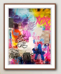 Home Sweet Home - Framed Limited Edition Print - Graffiti Inspired