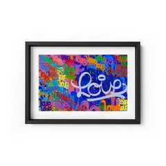 Love Always - Framed Limited Edition Print - Contemporary - Graffiti Inspired