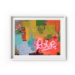 Love vs. Love - Framed Limited Edition Print - Contemporary - Modern Abstract