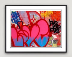 Sweet Love - Framed Limited Edition Print - Contemporary - Graffiti Inspired
