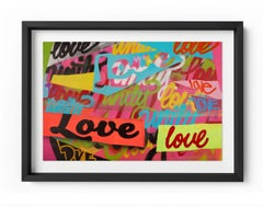Unity & Love - Framed Limited Edition Print - Contemporary - Graffiti Inspired