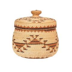 Karok Lidded Treasure Basket