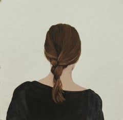 """""""Back Portrait VII"""" Contemporary Portrait Painting of a Girl"""