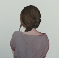 """""""Pink Shirt"""" Contemporary Portrait Painting of a Girl in Pink Shirt"""