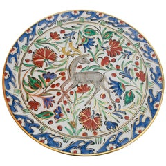 Karos Hand Painted Carnations and Tulips Decorative Plate Rhodes Greece