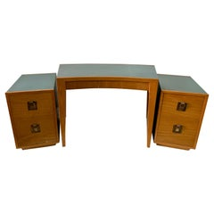 Karpen of California Desk and Side Cabinets