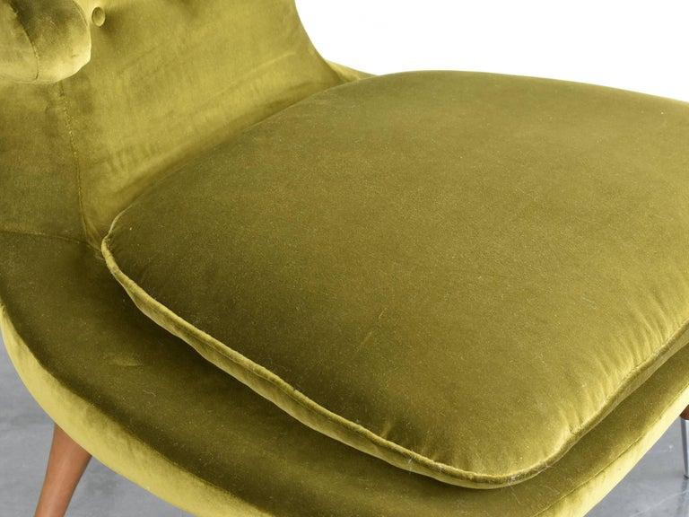 Karpen Of California Quot Horn Quot Lounge Chair Green Velvet