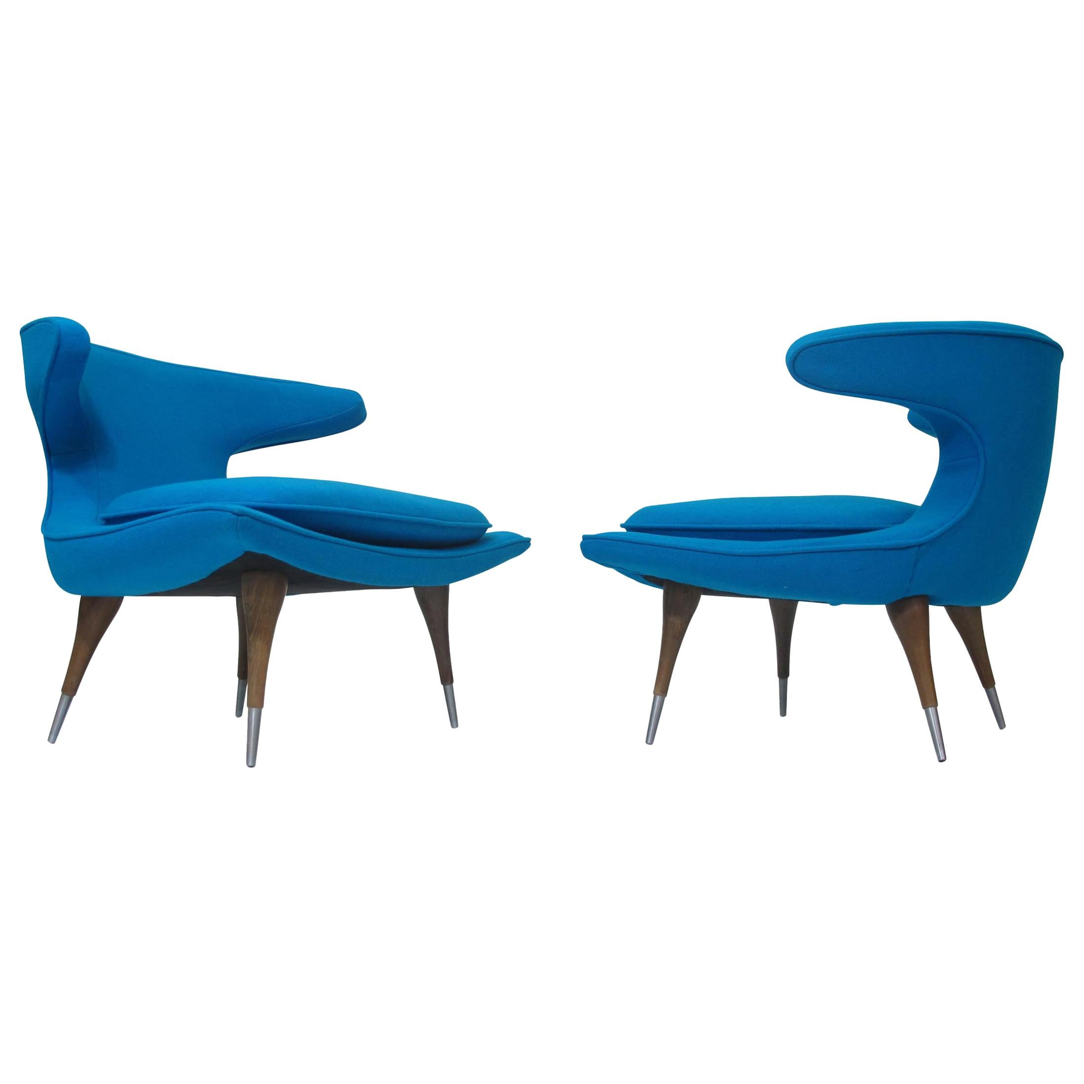 Karpen of California Horn Lounge Chairs